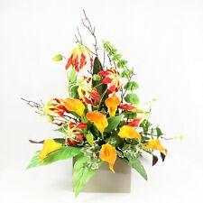Gloriosa and Calla Lilies Front Facing Arrangement Silk Artificial Decor