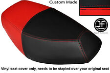 BLACK AND RED VINYL CUSTOM FOR PULSE SCOUT 50 BOATIAN DUAL SEAT COVER ONLY