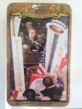"""500 Piece Jigsaw Puzzle Norman Rockwell Collectors Tin """"A Time For Greatness"""""""