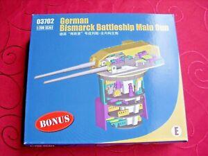 Bismarck-Trumpeter oder Hachette Detaillierter Hauptgeschützturm  1:200