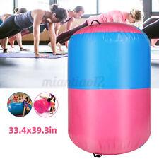 "39x33"" Inflatable Gymnastics Gym Air Barrel Mat Track Yoga Roller Cylinder Home"