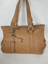 Emporio Armani 100% Italian Leather Bow Tote Brown Bag Made In Italy 0fe276a79bff9