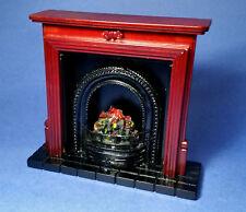 Miniature Dollhouse Mahogany Fireplace 1:12 Scale New