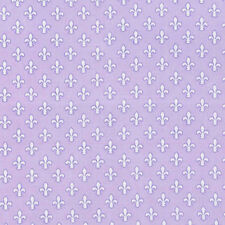 Michael Miller Fleur-de-lis LAVENDER 100%Cotton Fabric FQ CX6556-PURPLE Paris