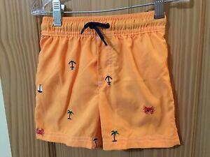 New Carter's Crab Swim trunk Shorts Orange UPF 50+