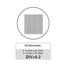 Eyepiece Micrometer DIV 0.2mm Grid Microscope Micrometer Calibration Slide