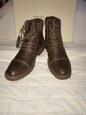 PERRY ELLIS AMERICA 'CAPTAIN' Men's Ankle Brown Boots  Sz. 8.5 M  NIB