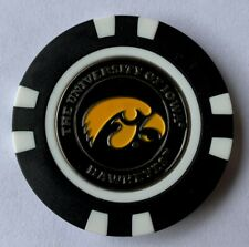 New Iowa Hawkeyes Magnetic Poker Chip removable Golf Ball Marker