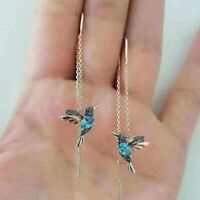 Wholesale Charm Simulation Hummingbird Stud Earrings Women Drop Dangle Jewellery