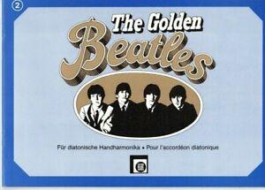 diat. diatonische Handharmonika Noten : The Golden BEATLES Band 2 leichte Mittel