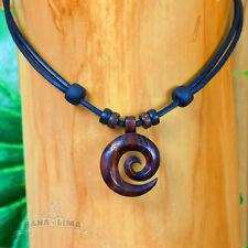Koru Lederkette Halskette Surferkette Kette Maori Symbol Freundschaft Hoffnung