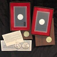 1971-S $1 Silver (Proof) Ike Dollar Eisenhower - Set of 2