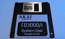 O/S System DISK - AKAI Sampler - S1000 S1100 S2000 S3000XL CD3000XL MPC ZIP OS