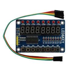 1Pcs TM1638 8-Bit LED Digital Tube 8 Keys  Wh Best Module for Arduino+Free Cable