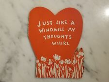 """1930s Valentine's Day Card """"Just Like A Windmill..."""""""
