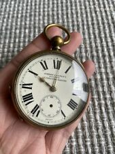 Antique Jordan & Benet's Railway Guinea Time Keeper Fusee Pocket Watch