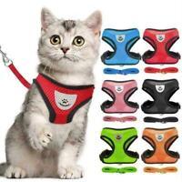 Breathable Pet Harness Vest Leash Set Dog Cat Soft Mesh Puppy Bling Strap H N1M2