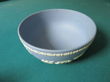 "WEDGWOOD BLUE  JASPERWARE BOWL 3 1/2 X 8""   [*77C]"