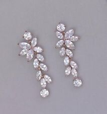 3Ct Marquise Simulant Diamond Dangle Chandelier Earrings Yellow Gold Fnsh Silver