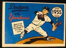 1970 Fleer Laughlin World Series BLUE BACK, 1955 Yankees/Dodgers, Pack Fresh!
