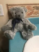 "Vintage 15"" Blue Mohair Bear ""Design by Althea"" Fully Jointed. Free Shipping"