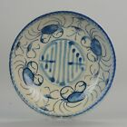 19C Chinese porcelain kitchen ch'ing Qing Plate Crab Market South East A...