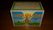 VTG LAND O LAKES BUTTER TIN WITH RECIPES NICE SHAPE