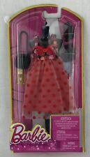 Barbie Fashionistas Clothes Outfil Red Polka Dot Dress Black Sandals Purse 8328