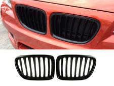 * Shiny Gloss Black Front Bumper Kidney Grille For BMW E84 X1 10-15 SUV