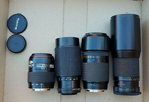 4x Untested Unchecked Unconfirmed Tokina Camera Lens 400mm 70-210mm BL55