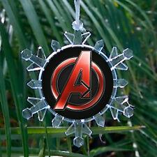 Marvel Avengers Assemble Snowflake Blinking Holiday Christmas Tree Ornament