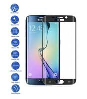 Tempered glass screen full protector film for Samsung Galaxy S6 Edge Color Black