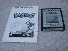 Atari 7800 Dig Dug with manual