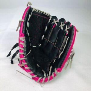 "RIGHT HT - Louisville Slugger Baseball Glove DV14-HP YOUTH 10.5"" Black/Pink"