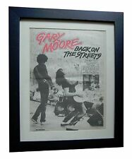 GARY MOORE+Back On Streets+POSTER+AD+RARE ORIGINAL 1978+FRAMED+FAST GLOBAL SHIP
