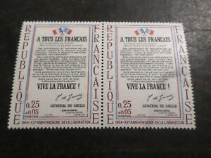 FRANCE 1964, VARIETE ESSUYAGE/DECALAGE, timbre 1408 L AFFICHE, neuf** MNH