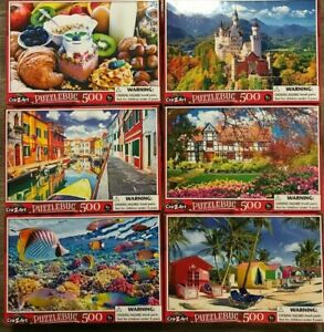 New Puzzlebug 500 Piece Jigsaw Puzzles - 12 Variations