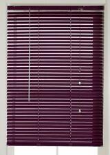 Aluminium Metal Venetian Blind Plum Purple 90cm Wide 160cm Drop