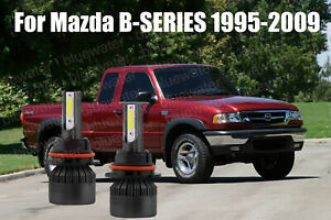 LED For Mazda B-SERIES 1995-2010 Headlight Kit 9007 HB5 6000K Bulbs Hi-Low Beam
