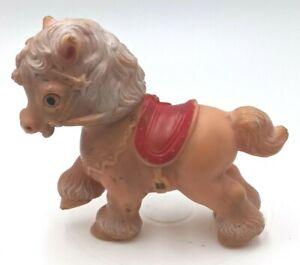 """Sun Rubber Company Squeaky Horse Toy 5.5"""" Vintage"""