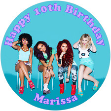 """Little Mix  7.5"""" Round Personalised Edible Icing Cake Topper"""