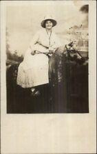 Cincinnati? Coney Island? Studio Woman w/ Horse Prop Steamer Island Queen