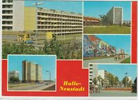Ansichtskarte Halle - Internat/Kindergarten/Schwimmhalle/Wohngebiet/Halloren-Eck