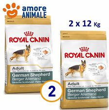 2 SACCHI - Royal Canin German Shepherd Adult 12 kg per Pastore Tedesco Adulto