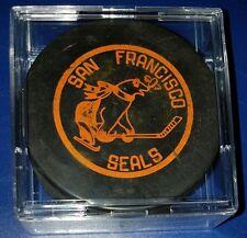 San Francisco Seals RARE ORIGINAL 1966 WHL Art Ross Converse Hockey Puck Vintage
