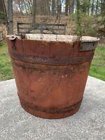 AAFA Vermont Wood Sap Bucket Pail Primitive, Sugar Shack
