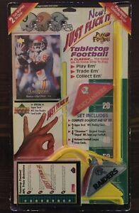 Upper Deck Tabletop Football Just Flick It Game Raiders Buccaneers NFL New Rare