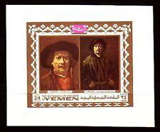Yemen KGr 1969 ** bl.154 B pinturas pinturas Rembrandt