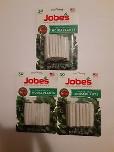 90ct JOBES Fertilizer Spikes - lot of 3-30ct packages- 1.4oz ~ NEW
