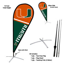 Miami Canes Feather and Swooper Flag and Banner Kit